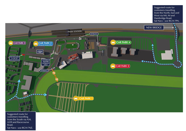 Map Of Ireland Racecourses.How To Find Us Newbury Racecourse